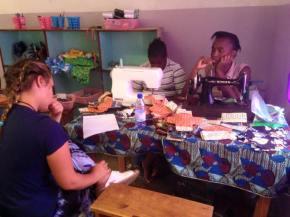 Volunteer Report: Sanitary Pad and Sewing Workshop SetUp