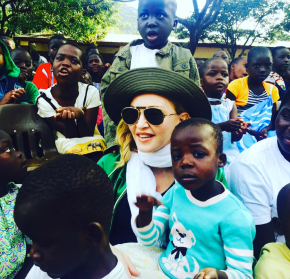 Madonna and Raising Malawi visit to Home Of Hope